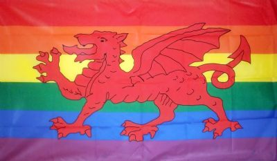RAINBOW WELSH DRAGON - 5 X 3 FLAG